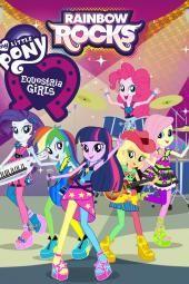 """Mano mažasis ponis: """"Equestria"""" merginos: vaivorykštės uolos"""